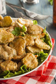 Delicious Battered Fried Pickles — Stock Photo