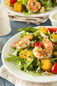 Healthy Shrimp and Arugula Salad — Stock Photo