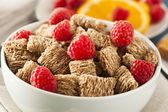 Healthy Whole Wheat Shredded Cereal — Stock Photo