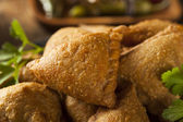Homemade Fried Indian Samosas — Stock Photo