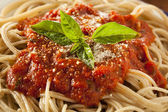Homemade Spaghetti with Marinara Sauce — Stock Photo