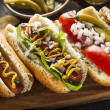 Gourmet Grilled All Beef Hots Dogs — Stock Photo #47899127