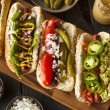 Gourmet Grilled All Beef Hots Dogs — Stock Photo #47899403