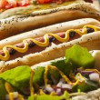 Gourmet Grilled All Beef Hots Dogs — Stock Photo #47899459