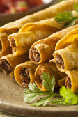 Homemade Mexican Beef Taquitos — Stock Photo
