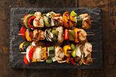 Homemade Chicken Shish Kabobs — Stock Photo