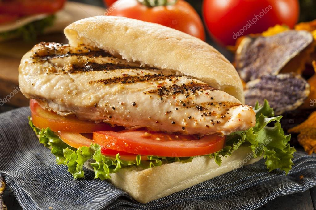 Izgara Tavuk Sandviç Sağlıklı Izgara Tavuk Sandviç