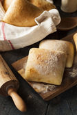 Fresh Homemade Ciabatta Buns — Stock Photo