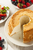 Homemade Angel Food Cake — Stock Photo