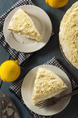 Homemade Lemon Cake with Cream Frosting — Stock Photo