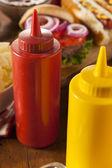 Organic Red Tomato Ketchup — Stock Photo