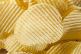 Unhealthy Crinkle Cut Potato Chips — Stock Photo