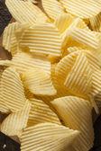 Unhealthy Crinkle Cut Potato Chips — Stock Photo