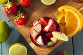 Homemade Delicious Red Sangria — Stock Photo