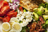 Healthy Hearty Cobb Salad — Stock Photo