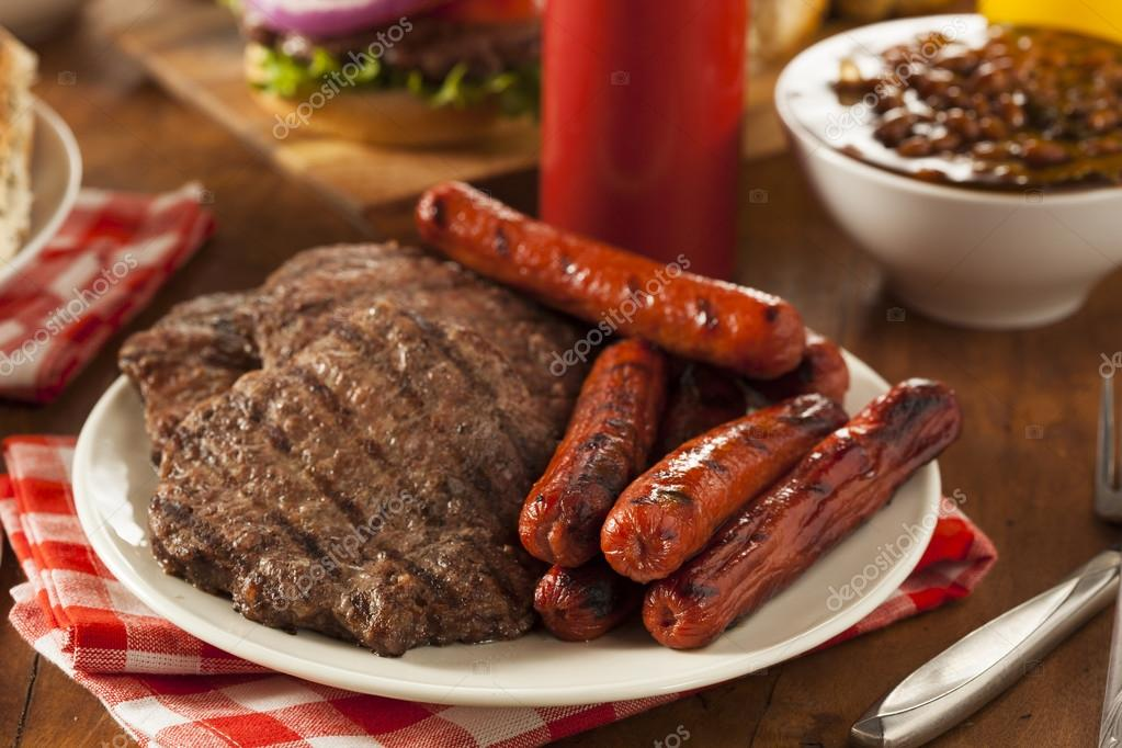 Grilled Hamburgers And Hot Dogs Stock Photo 169 Bhofack2