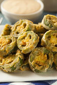 Unhealthy Fried Jalapeno Slices — Stockfoto