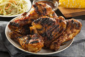 Homemade Grilled Barbecue Chicken — Stock Photo
