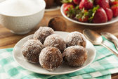 Homemade Chocolate Donut Holes — Stock Photo
