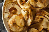 Homemade Spiral Cut Potato Chips — Stock Photo
