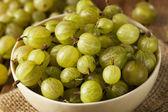 Organic Raw Green Gooseberries — Stock Photo