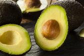 Orgânicos matérias abacates verdes — Foto Stock