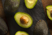 Organic Raw Green Avocados — Foto de Stock