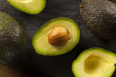 Organic Raw Green Avocados — 图库照片