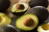 Organic Raw Green Avocados — Stock Photo