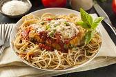 Homemade Italian Chicken Parmesan — Stock Photo