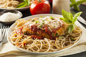 Homemade Italian Chicken Parmesan — Stock Photo