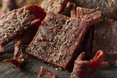 Dried Peppered Beef Jerky — Stock Photo