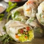 Healthy Vegetarian Spring Rolls — Stock Photo #50501057