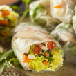 Healthy Vegetarian Spring Rolls — Stock Photo #50501067
