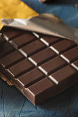 Organic Dark Chocolate Candy Bar — Stock Photo