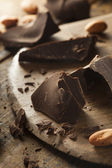 Organic Dark Chocolate Chunks — Stock Photo