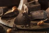 Organic Dark Chocolate Chunks — Stock Photo