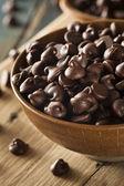 Organic Dark Chocolate Chips — Stock Photo