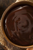 Molho doce de chocolate escuro — Foto Stock