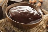 Sweet Dark Chocolate Sauce — Stock Photo