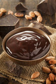 Sweet Dark Chocolate Sauce — 图库照片
