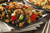 Homemade Kung Pao Chicken — Stock Photo