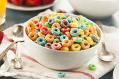 Coloful Fruit Cereal Loops — Stock Photo