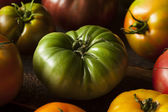 Colorful Organic Heirloom Tomatoes — Stock Photo