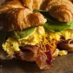 Ham and Cheese Egg Breakfast Sandwich — Stock Photo #51337539