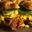 Ham and Cheese Egg Breakfast Sandwich — Stock Photo #51337607
