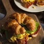 Ham and Cheese Egg Breakfast Sandwich — Stock Photo #51337609