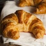 Постер, плакат: Homemade Flakey French Croissants