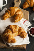 Homemade Flakey French Croissants — Foto de Stock