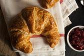 Homemade Flakey French Croissants — Stock Photo